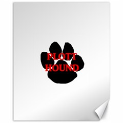 Plott Hound Name Paw Canvas 11  X 14
