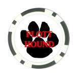 Plott Hound Name Paw Poker Chip Card Guards Back