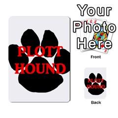 Plott Hound Name Paw Multi-purpose Cards (Rectangle)