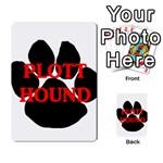 Plott Hound Name Paw Multi-purpose Cards (Rectangle)  Back 52