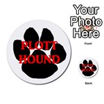 Plott Hound Name Paw Multi-purpose Cards (Round)  Back 18