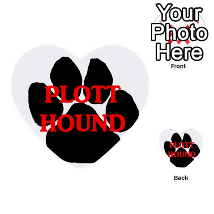 Plott Hound Name Paw Multi-purpose Cards (Heart)