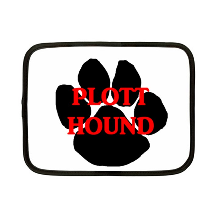 Plott Hound Name Paw Netbook Case (Small)