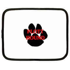 Plott Hound Name Paw Netbook Case (Large)