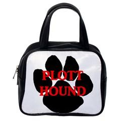 Plott Hound Name Paw Classic Handbags (One Side)