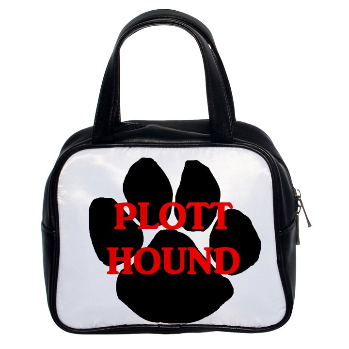 Plott Hound Name Paw Classic Handbags (2 Sides)