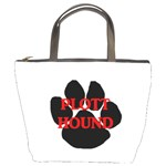 Plott Hound Name Paw Bucket Bags Front