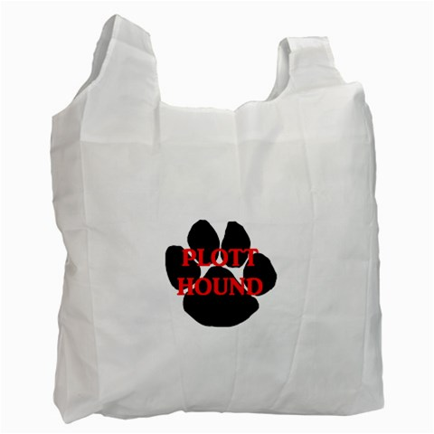 Plott Hound Name Paw Recycle Bag (One Side)