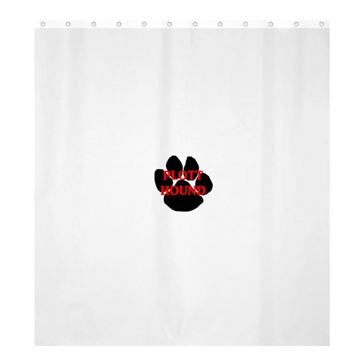 Plott Hound Name Paw Shower Curtain 66  x 72  (Large)