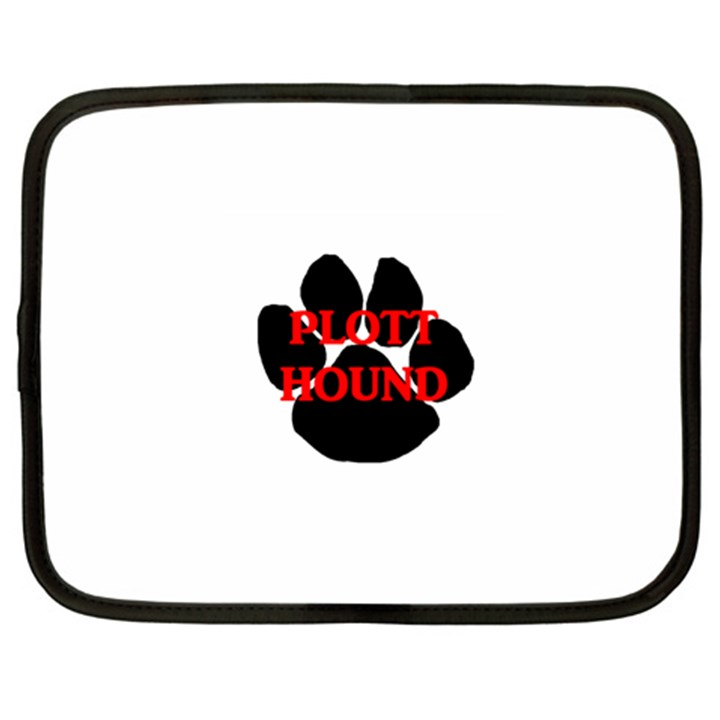 Plott Hound Name Paw Netbook Case (XXL)