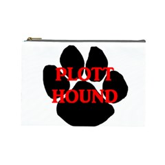 Plott Hound Name Paw Cosmetic Bag (Large)