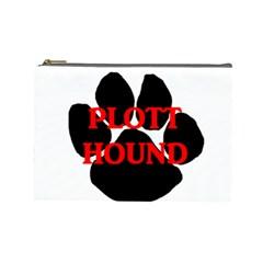 Plott Hound Name Paw Cosmetic Bag (Large)