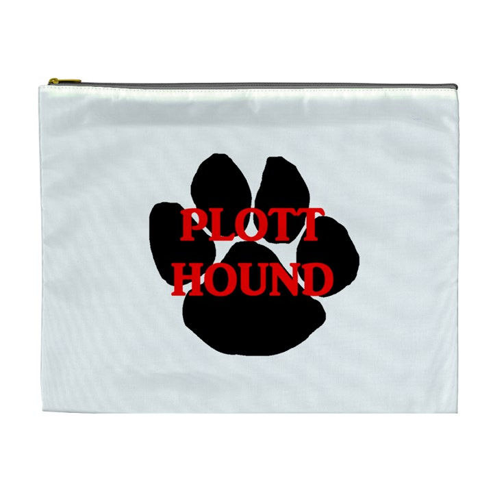 Plott Hound Name Paw Cosmetic Bag (XL)