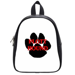 Plott Hound Name Paw School Bags (Small)