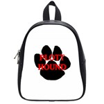 Plott Hound Name Paw School Bags (Small)  Front