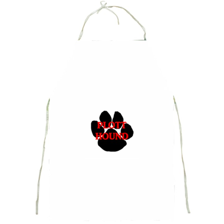 Plott Hound Name Paw Full Print Aprons
