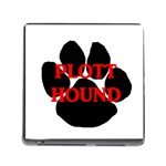 Plott Hound Name Paw Memory Card Reader (Square) Front