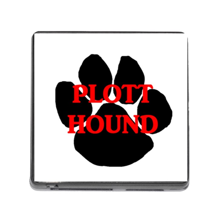 Plott Hound Name Paw Memory Card Reader (Square)