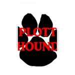 Plott Hound Name Paw Memory Card Reader Front