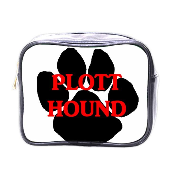 Plott Hound Name Paw Mini Toiletries Bags
