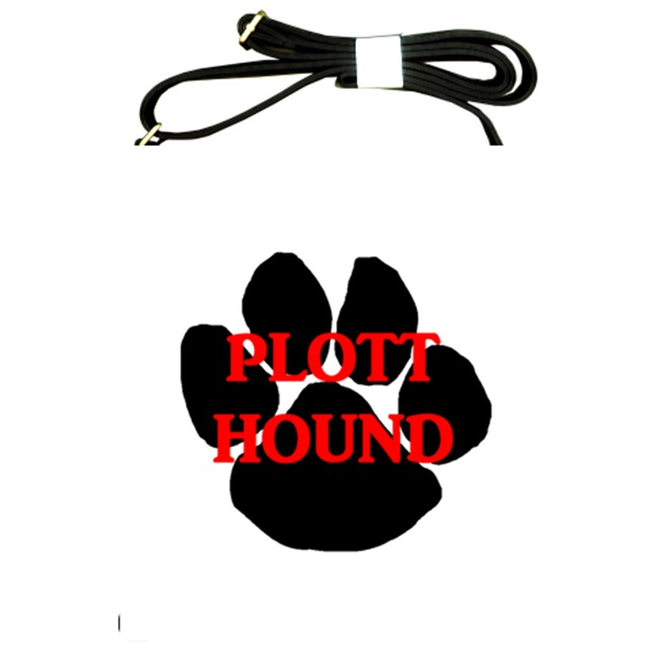 Plott Hound Name Paw Shoulder Sling Bags