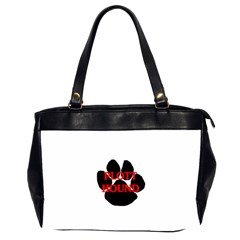 Plott Hound Name Paw Office Handbags (2 Sides)