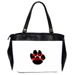 Plott Hound Name Paw Office Handbags (2 Sides)  Back