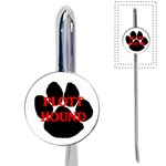 Plott Hound Name Paw Book Mark Front