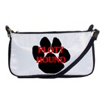 Plott Hound Name Paw Shoulder Clutch Bags Front