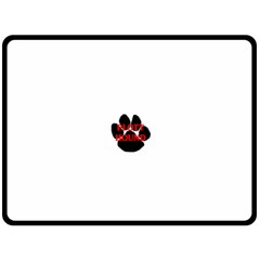 Plott Hound Name Paw Fleece Blanket (Large)