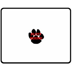 Plott Hound Name Paw Fleece Blanket (Medium)