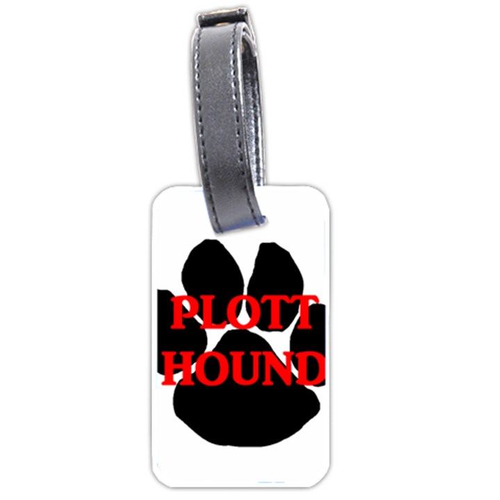 Plott Hound Name Paw Luggage Tags (Two Sides)