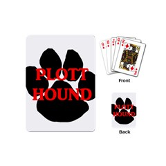 Plott Hound Name Paw Playing Cards (Mini)