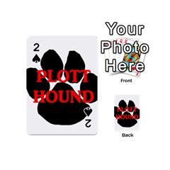 Plott Hound Name Paw Playing Cards 54 (Mini)