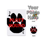 Plott Hound Name Paw Playing Cards 54 (Mini)  Front - Spade3