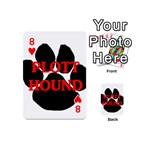 Plott Hound Name Paw Playing Cards 54 (Mini)  Front - Heart8