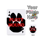 Plott Hound Name Paw Playing Cards 54 (Mini)  Front - Spade4