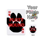 Plott Hound Name Paw Playing Cards 54 (Mini)  Front - Heart10