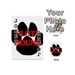 Plott Hound Name Paw Playing Cards 54 (Mini)  Front - Joker1