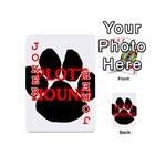 Plott Hound Name Paw Playing Cards 54 (Mini)  Front - Joker2