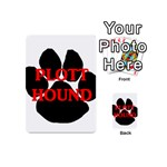 Plott Hound Name Paw Playing Cards 54 (Mini)  Back