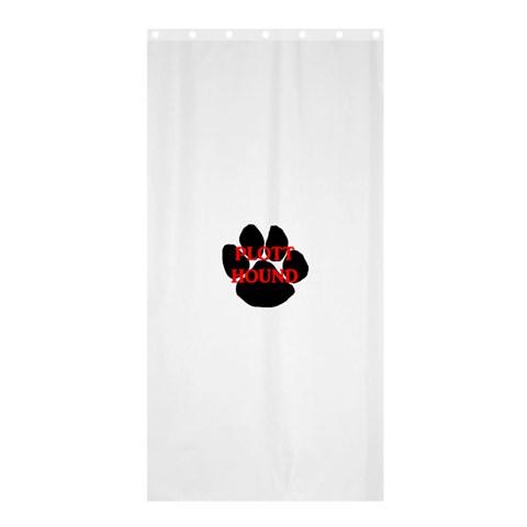 Plott Hound Name Paw Shower Curtain 36  x 72  (Stall)