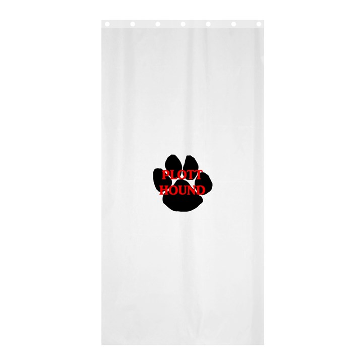 Plott Hound Name Paw Shower Curtain 36  x 72  (Stall)