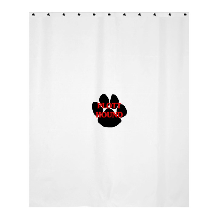 Plott Hound Name Paw Shower Curtain 60  x 72  (Medium)