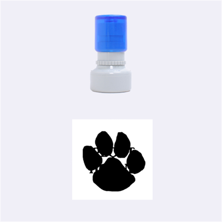 Plott Hound Name Paw Rubber Round Stamps (Small)