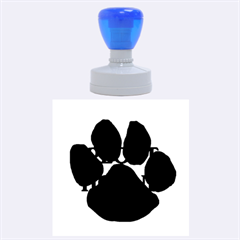 Plott Hound Name Paw Rubber Round Stamps (Large)