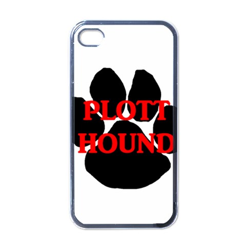 Plott Hound Name Paw Apple iPhone 4 Case (Black)