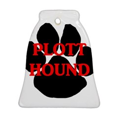 Plott Hound Name Paw Ornament (Bell)