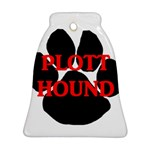Plott Hound Name Paw Ornament (Bell)  Front