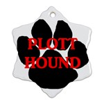 Plott Hound Name Paw Snowflake Ornament (2-Side) Front